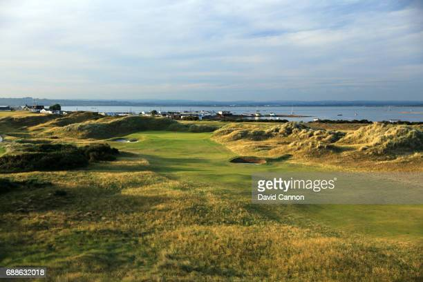 The 444 yards par 4 12th hole at Hayling Golf Club on May 22 2017 in Hayling Island England