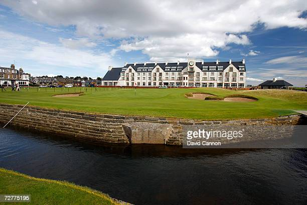 The 444 yds par 4 18th hole 'Home' on the Carnoustie Championship Course venue for the 2007 Open Championship on September 6th in Carnoustie Scotland