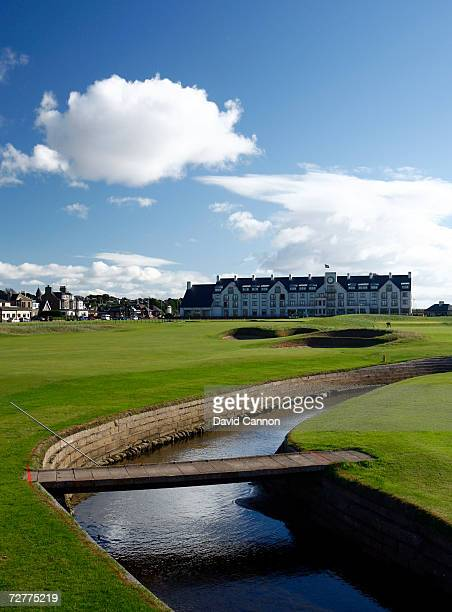 The 444 yds par 4 18th hole 'Home' on the Carnoustie Championship Course venue for the 2007 Open Championship on September 7th in Carnoustie Scotland