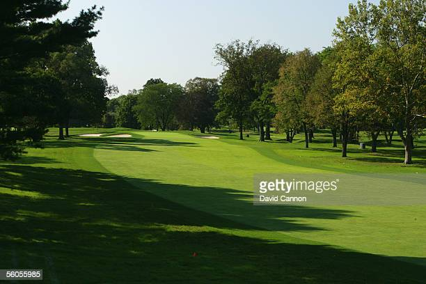The 449 yard par 4, 17th hole 'Well-Well' on the West Course at Winged Foot Golf Club venue for the 2006 US Open, on September 19, 2005 in...