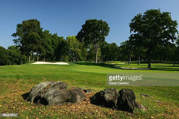 The 450 yard par 4, 14th hole 'Shamrock' on the West Course at Winged Foot Golf Club venue for the 2006 US Open, on September 19, 2005 in Mamaroneck,...