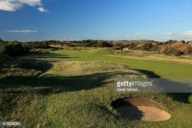 The 450 yards par 4 first hole at Royal Birkdale Golf Club the host course for the 2017 Open Championship on October 10 2016 in Southport England