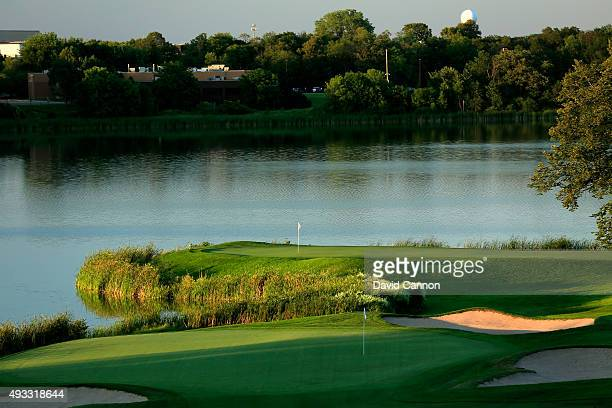 The 452 yards par 4, 10th hole with the 7th green behind at Hazeltine National Golf Club the host venue for the 2016 Ryder Cup Matches on August 11,...