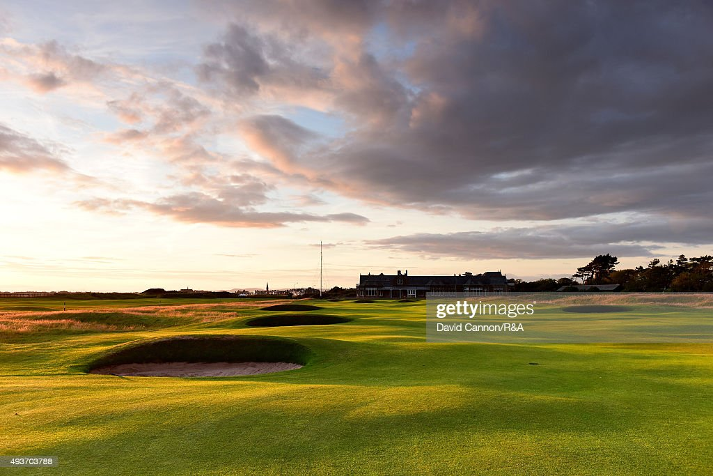 The 457 yards par 4, 18th hole 'Craigend' on the Old Course at Royal Troon venue for the 2016 Open Championship on July 29, 2015 in Troon, Scotland.