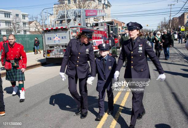 The 45th annual Queens County St. Patrick's Parade marches down Newport Avenue on March 7, 2020 in the Rockaway neighborhood of Queens, New York. The...