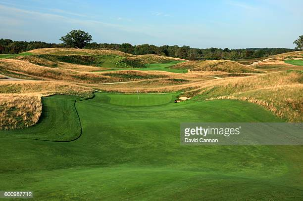 The 464 yards par 4, 12th hole at Erin Hills Golf Course the venue for the 2017 US Open Championship on August 31, 2016 in Erin, Wisconsin.