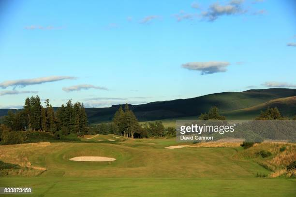 The 464 yards par 4, 13th hole on the King's Course at The Gleneagles Hotel on August 9, 2017 in Auchterarder, Scotland.