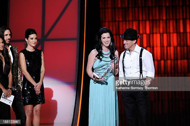 AWARDS THEATRE The 46th Annual CMA Awards airs live THURSDAY NOVEMBER 1 on Walt Disney Television via Getty Images live from the Bridgestone Arena in...