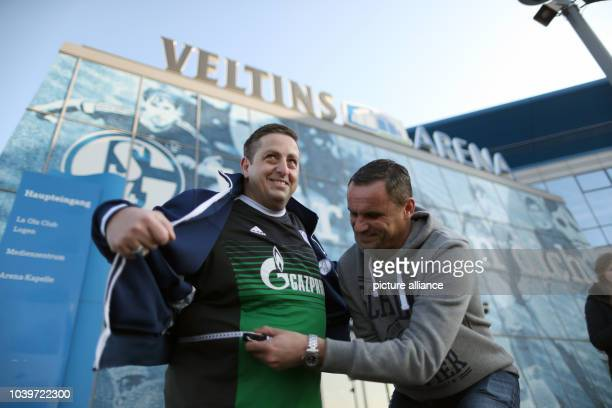 The 46-year-old participant Francesco Mattone and former professional soccer player Martin Max at a presentation introducing the new project...