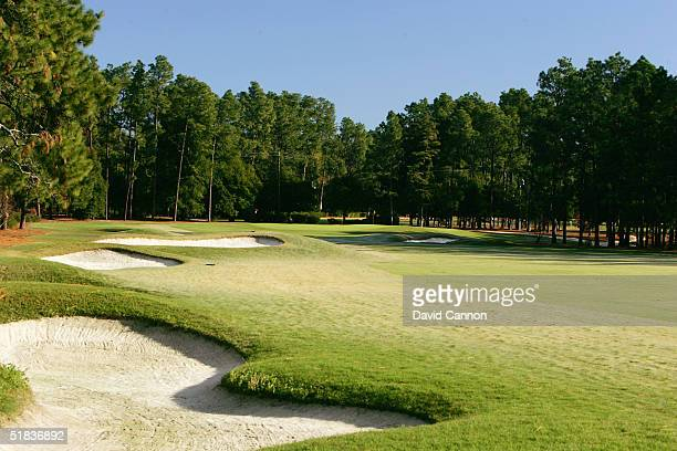 The 471 yard par 4 2nd hole on The Pinehurst No 2 Course venue for the 2005 US Open on November 14 in Pinehurst North Carolina USA