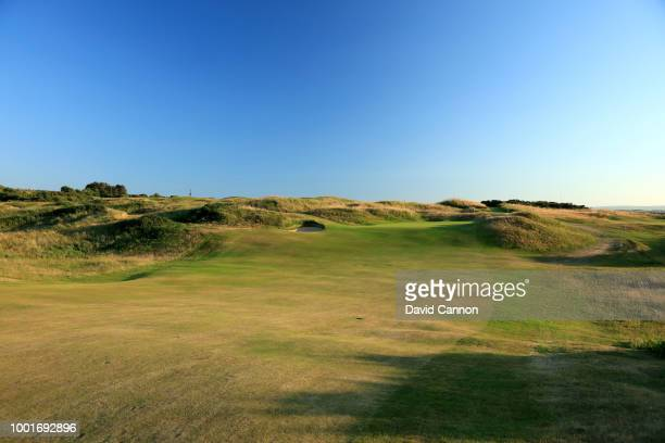 The 475 yards par 4, 11th hole 'P.G.Stevenson's' on the Dunluce Links at Royal Portrush Golf Club the venue for The Open Championship 2019 on July 2,...