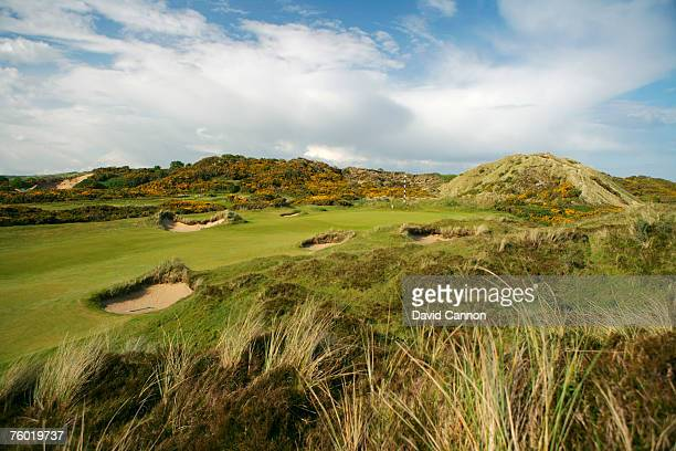 IRELAND MAY 21 The 477 yards par 4 3rd hole on the championship course at The Royal County Down Golf Club on May 19 in Newcastle Northern Ireland