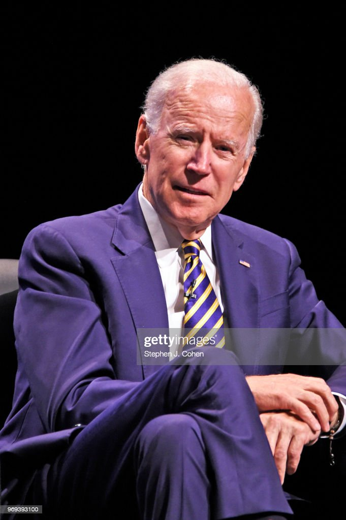 The 47th Vice President of the United States Joe Biden speaks during 'The American Promise' Tour at Whitney Hall on June 7, 2018 in Louisville, Kentucky.
