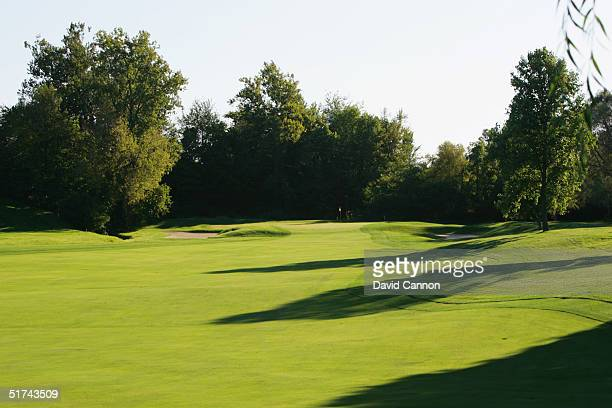The 483 yard par 4 14th hole at Crooked Stick Golf Club, on September 08, 2004 in Carmel, Indianapolis, USA.