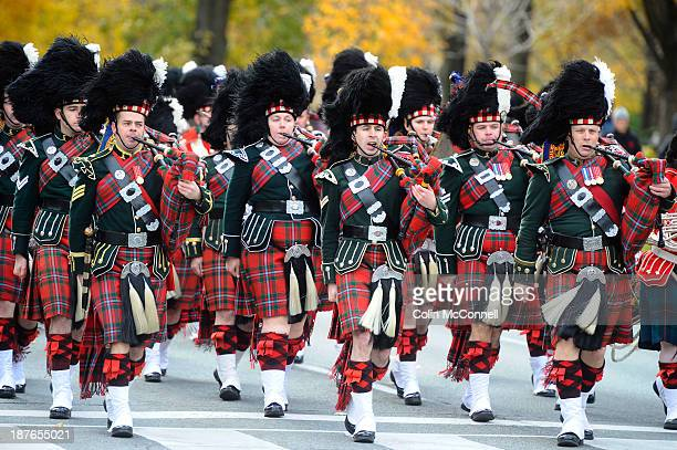 The 48th Highlanders of Canada marched up Queens Park Circle to the cenotaph on the north side of Queens park to pay respect to fallen comrades this...