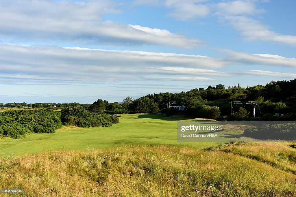 The 490 yards par 4, 11th hole 'The Railway' on the Old Course at Royal Troon venue for the 2016 Open Championship on July 29, 2015 in Troon, Scotland.