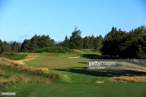 The 499 yards par 4 10th hole on the King's Course at The Gleneagles Hotel on August 9 2017 in Auchterarder Scotland