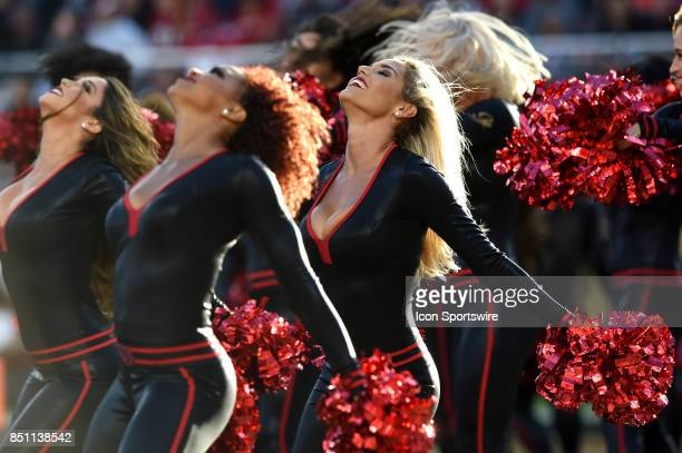 The 49ers Gold Rush cheerleaders during an NFL game between the Los Angeles Rams and the San Francisco 49ers on September 21 2017 at Levi's Stadium...
