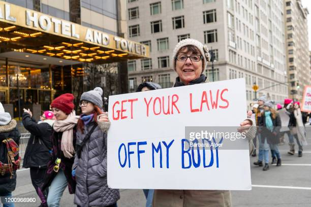 The 4th Annual Women's March gathered at Columbus Circle in NYC, January 18, 2020.
