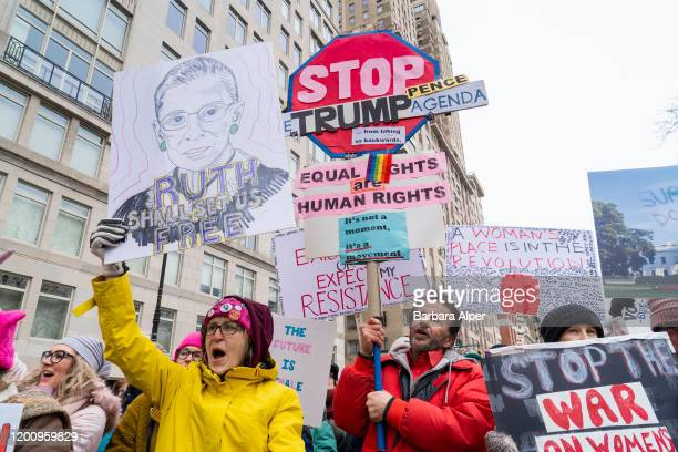The 4th Annual Women's March started at Columbus Circle in NYC, January 18, 2020.