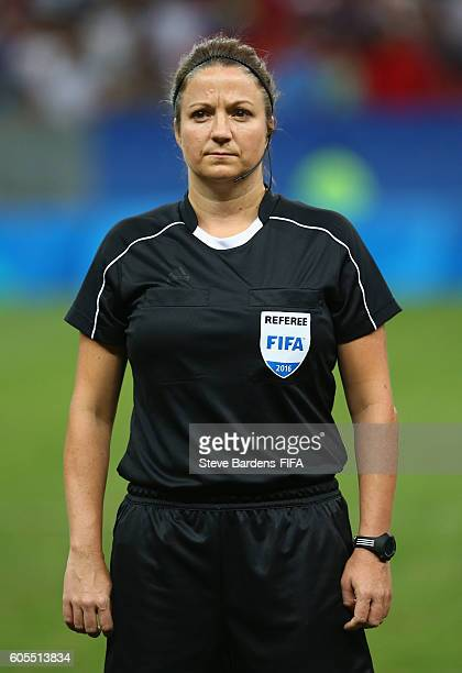 The 4th Official Carol Anne Chenard prior to the Women's First Round Group E match between China PR and Sweden on Day 4 of the Rio 2016 Olympic Games...
