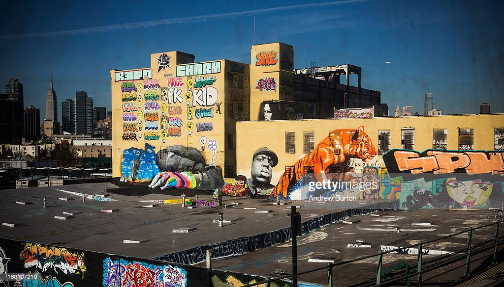 The 5 Pointz Building, a landmark in the New York graffiti scene that has attracted artists from around the globe, is seen on October 28, 2013 in the Long Island City neighborhood of the Queens borough of New York City. The artists that have been using 5 Pointz to paint for the past two decades are currently in a battle with the building's owners, who want to tear the building down to build apartment high rises worth $400 million. The 5 Pointz artistic community have also called on street artist Banksy who is currently in the midst of a high profile 'month in residence' series, creating work through out the streets of New York, to weigh in on the battle, though so far the artist has stayed silent. Meres One says he is prepared to chain himself to the building, should demolition move forward.