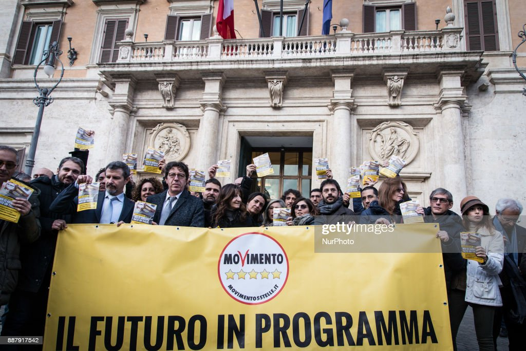 The 5 Stars Movement, today launched in Piazza Montecitorio in Rome the next election campaign to be held in the early months of next year on December 7, 2017 in Rome, Italy.