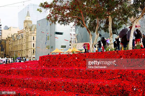 The 5000 Poppies Project spanned over 2 years to commemorate the Centenary of ANZAC landing in Gallipoli received over 250000 crocheted poppies by...
