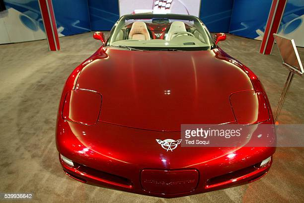 The 50th Anniversary exclusive special edition Chevrolet Corvette convertible starts at $5737000 and seats two The LA Auto Show is open to the public...
