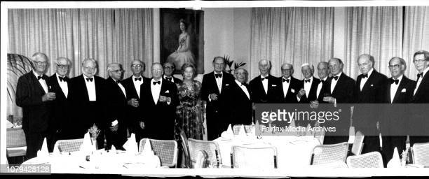 The 50th anniversary of the Law graduates of 1934 at the Royal Society left to right WIS hort TOld COld PRofe CGB Addison GHamilton Moore Mrs...