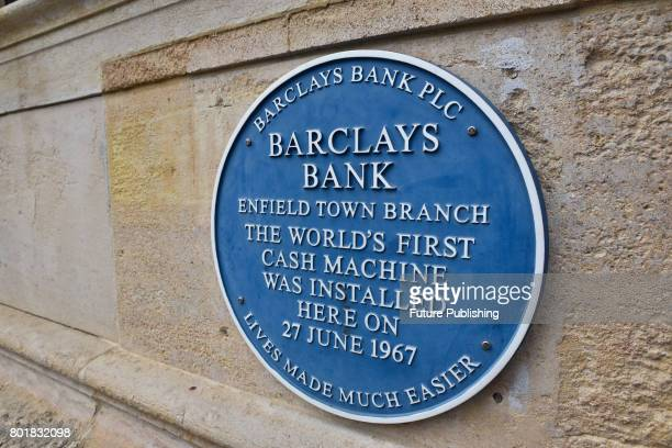 The 50th anniversary of the world's first ATM machine is celebrated at Barclays Bank on June 27 2017 in Enfield England PHOTOGRAPH BY Matthew Chattle...