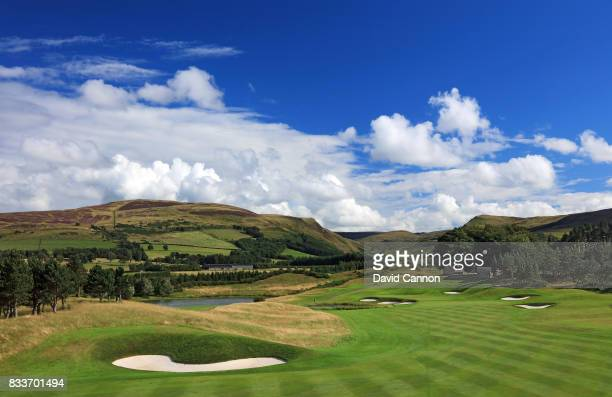 The 516 yards par 5 second hole on the PGA Centenary Course at The Gleneagles Hotel on August 7 2017 in Auchterarder Scotland