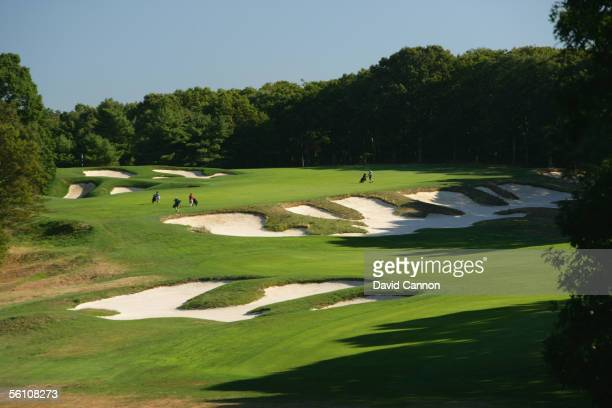 The 517 yard par 5 4th hole on the Black Course at Bethpage Sate Park venue for the 2009 US Open on September 21 2005 in Farmingdale New York United...