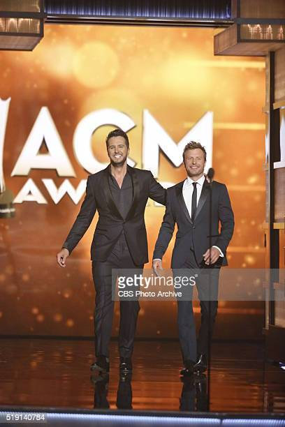 The 51st ACADEMY OF COUNTRY MUSIC AWARDS cohosted by Luke Bryan and Dierks Bentley from the MGM Grand Garden Arena in Las Vegas Sunday April 3 2016...