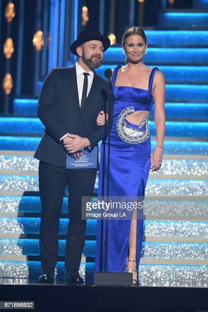 AWARDS 'The 51st Annual CMA Awards' hosted for the 10th year by Brad Paisley and Carrie Underwood airs live from Bridgestone Arena in Nashville...