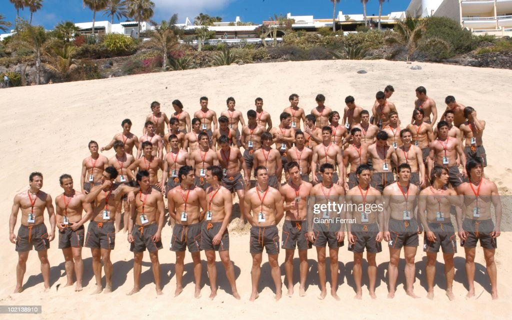 The 52 candidates for the election of Mister Spain 2006, First April 2006, Marina D'Or, Castellon, Spain. (Photo by Gianni Ferrari / GettyImages