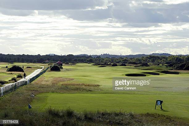 The 520 yds par 5 6th hole 'Hogan's Alley' on the Carnoustie Championship Course venue for the 2007 Open Championship on September 4th in Carnoustie...