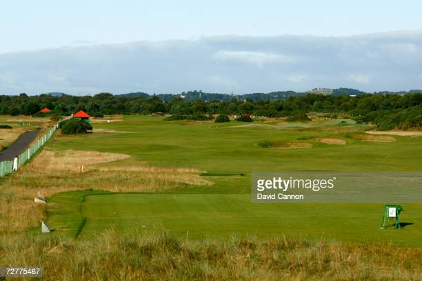 The 520 yds par 5 6th hole 'Hogan's Alley' on the Carnoustie Championship Course venue for the 2007 Open Championship on September 7th in Carnoustie...