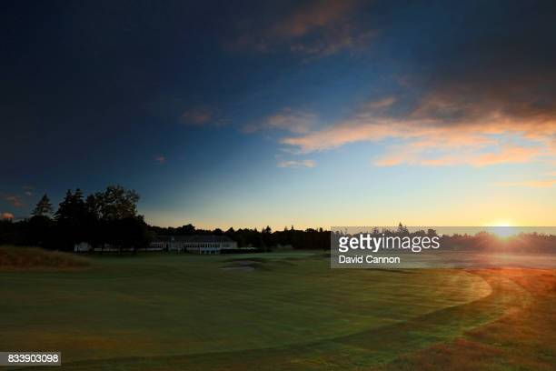 The 525 yards par 5, 18th on the King's Course at The Gleneagles Hotel on August 9, 2017 in Auchterarder, Scotland.