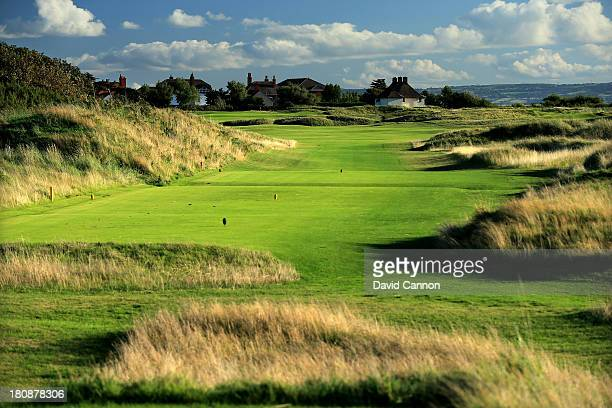 The 534 yards par 5, 8th hole 'Far' which will play as the 10th hole in the 2014 Open Championship at Royal Liverpool Golf Club on September 14, 2013...