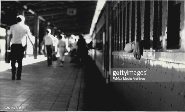 The 5.48 to Katoomba from Central. January 10, 1986. .