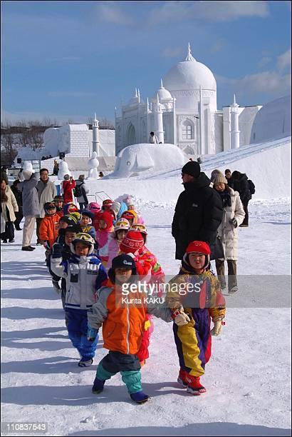 The 55Th Sapporo Snow Festival In Sapporo Japan On February 05 2004 The 55th Sapporo Snow Festival