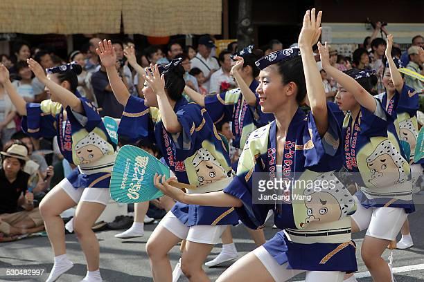 the 55th tokyo koenji awaodori dance festival - awa dance festival stock photos and pictures