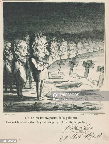 The 56, or the trappists of politics: –Tough to have a session in front of your own grave!, from 'News of the day,' published in Le Charivari, April...