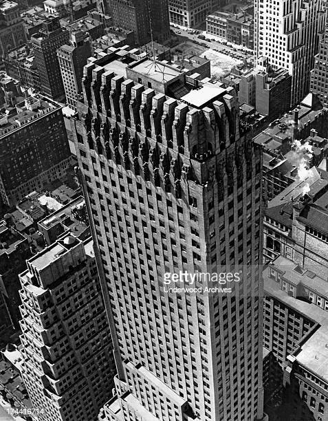 The 56 story Chanin Building in New York City at 122 East 42nd Street diagonally across Lexington Avenue from the Chrysler Building from where this...