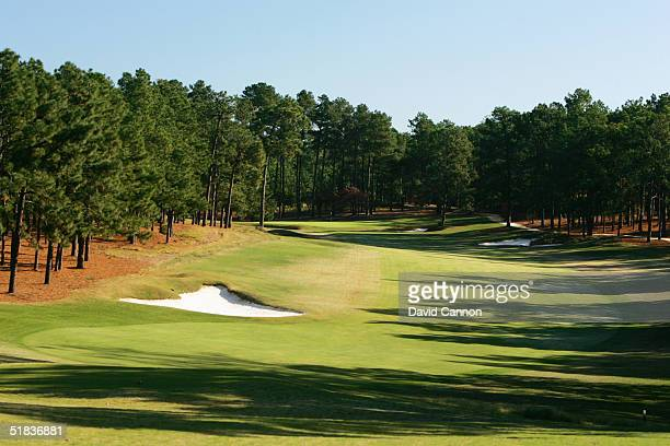 The 565 yard par 5, 4th hole on The Pinehurst No 2 Course venue for the 2005 US Open, on November 14 in Pinehurst, North Carolina, USA.