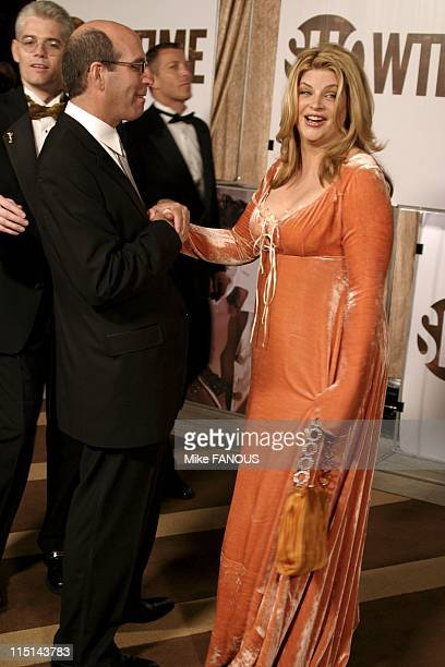 The 56th Annual Primetime Emmy Awards Showtime After Party at Mortons in Beverly Hills United States on September 19 2004 Matt Blank and Kristie Alley