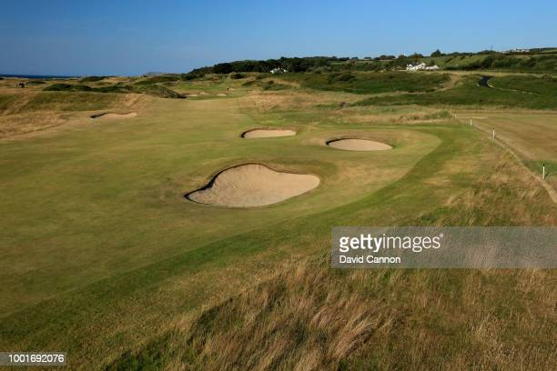 The 572 yards par 5 second hole on the Dunluce Links at Royal Portrush Golf Club the venue for The Open Championship 2019 on July 2 2018 in Portrush...