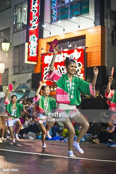 the 59th tokyo koenji awa-odori dance festival - happi stock photos and pictures