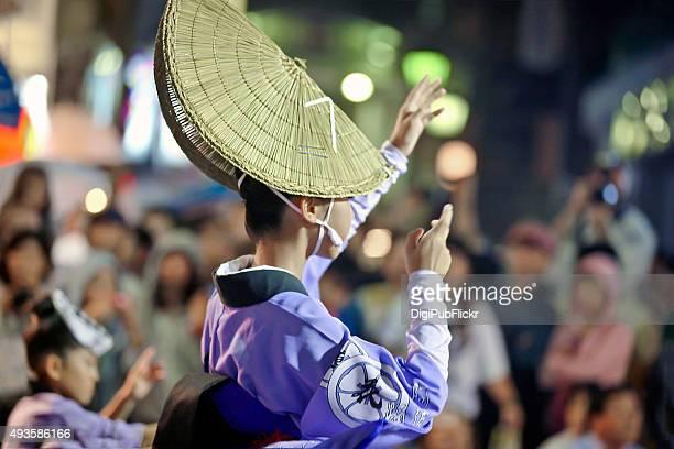 the 59th tokyo koenji awaodori (2015) - awa dance festival stock photos and pictures